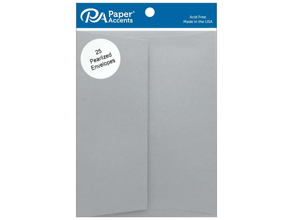Paper Accents Envelope 4.38 in. x 5.75 in. Pearlized Nickel 25pc