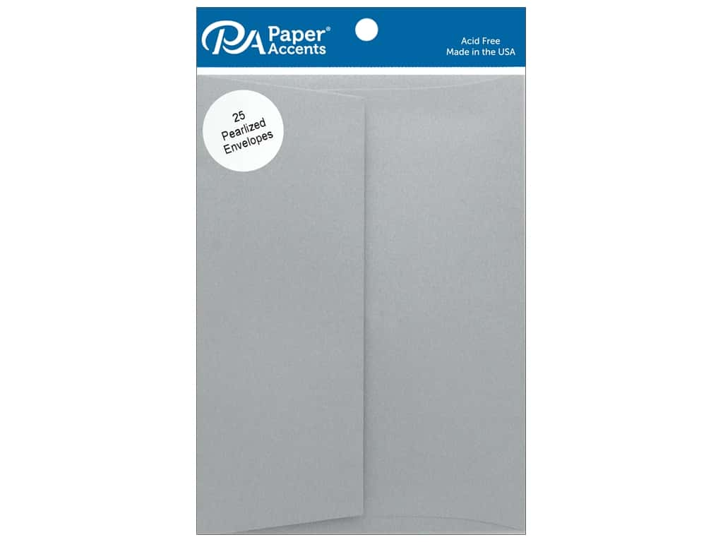 Paper Accents Envelope 5.25 in. x 7.25 in. Pearlized Nickel 25 pc
