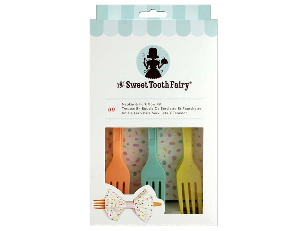American Crafts Sweet Tooth Fairy Napkin & Fork Bow Kit