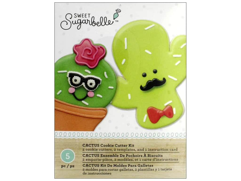 American Crafts Sweet Sugarbelle Cookie Cutter Kit Cactus