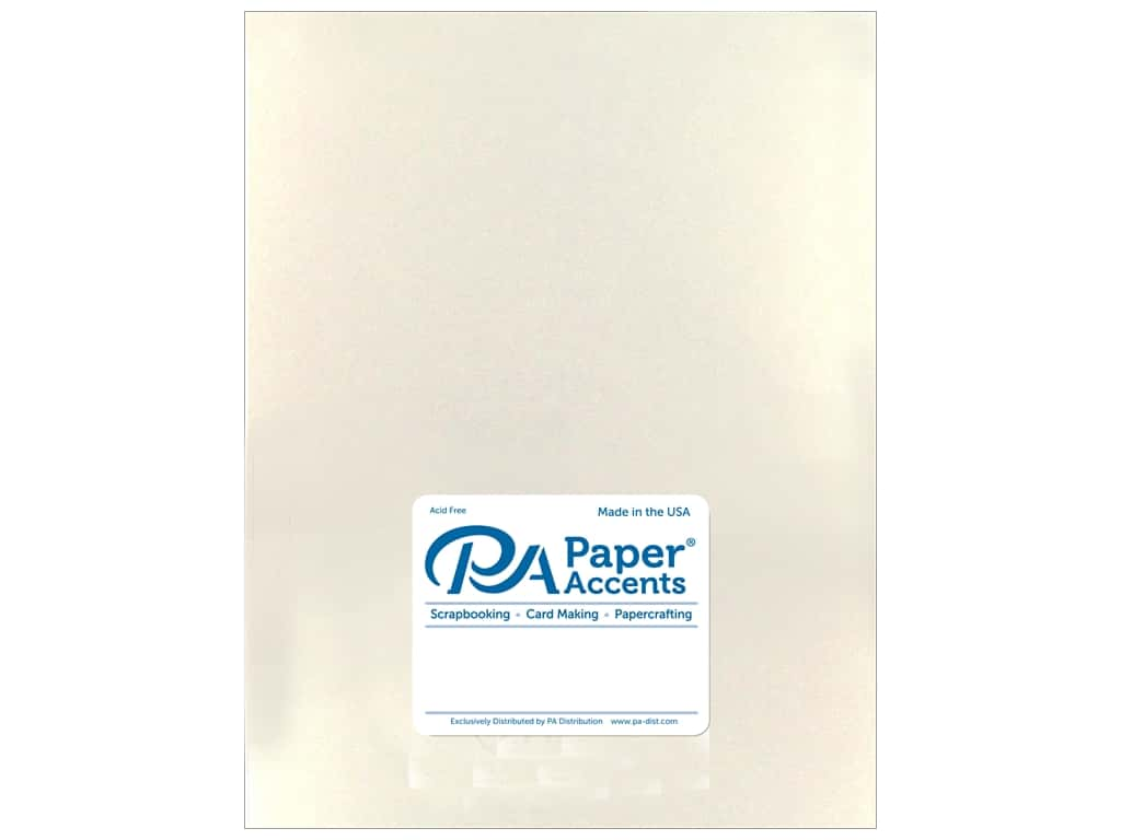 Paper Accents Cardstock 8 1/2 x 11 in. Pearlized White Gold 25 pc.
