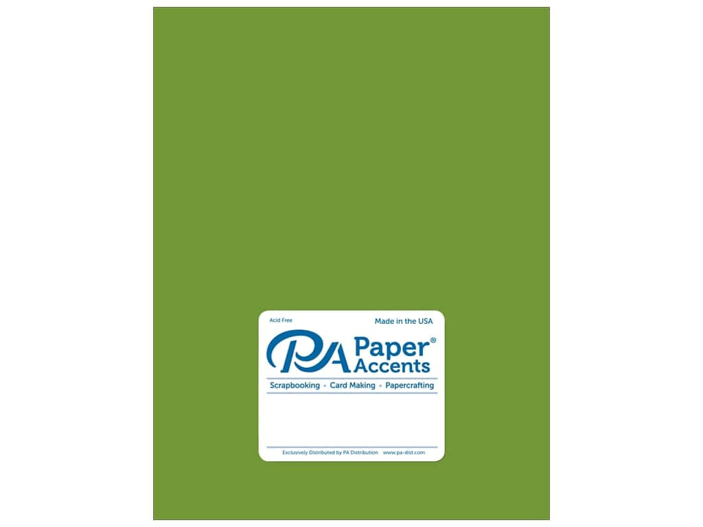 Paper Accents Cardstock 8 1/2 x 11 in. Pearlized Lime Rickey 25 pc.