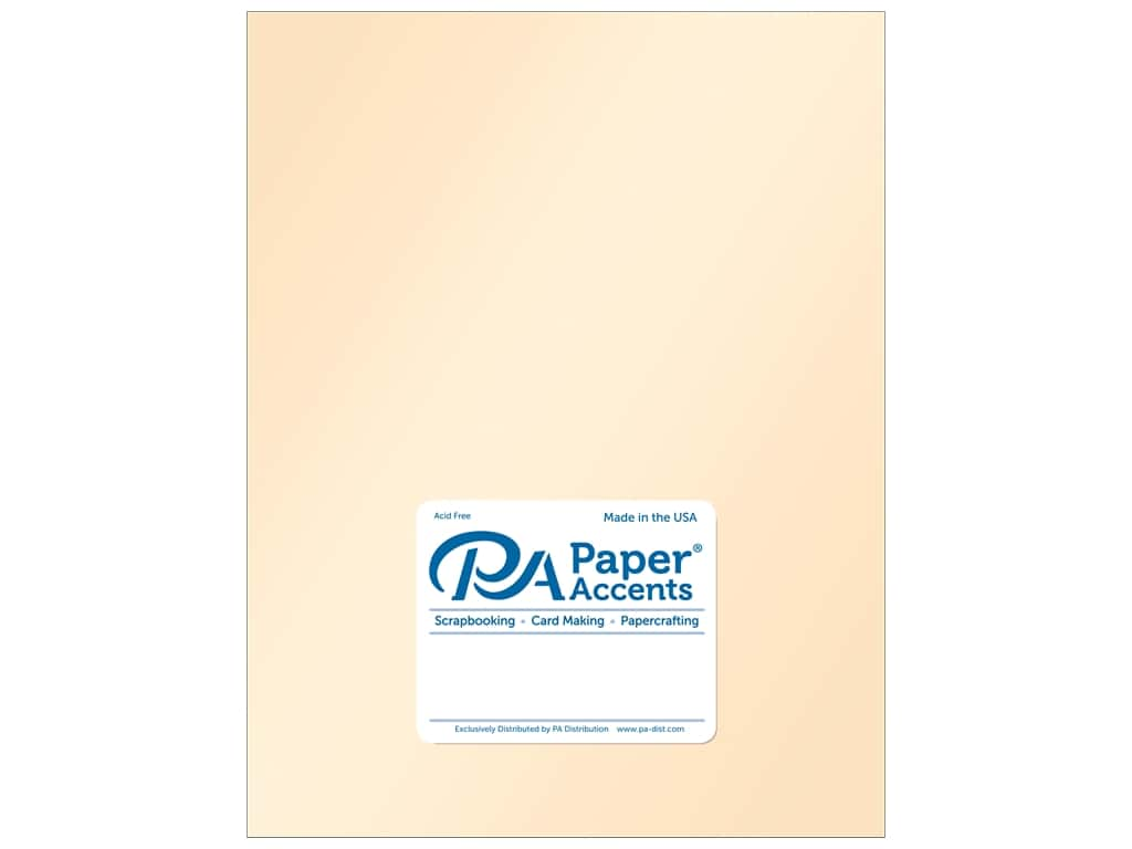 Paper Accents Cardstock 8 1/2 x 11 in. Pearlized Cameo 25 pc.