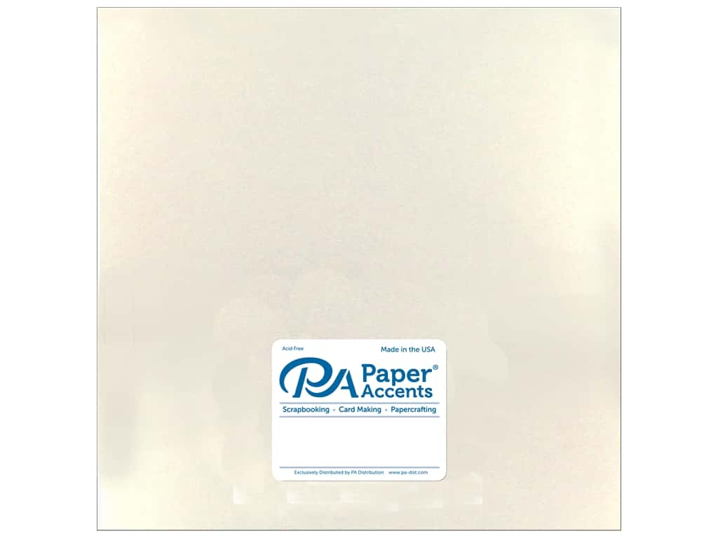 Paper Accents Cardstock 12 x 12 in. Pearlized White Gold 25 pc.