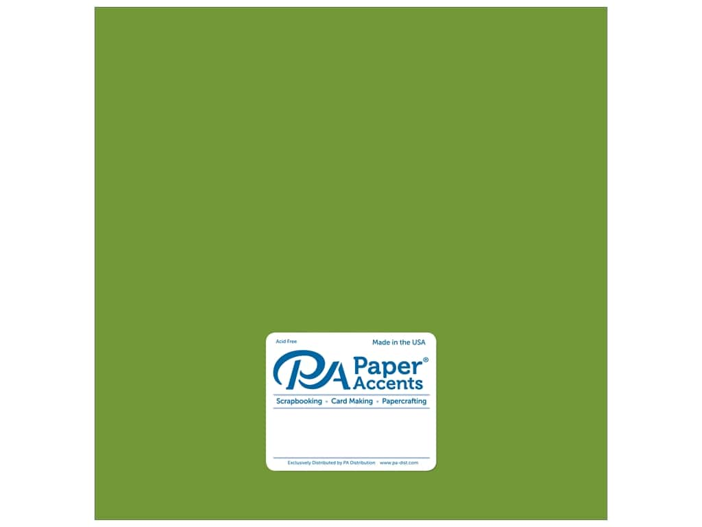 Paper Accents Cardstock 12 x 12 in. Pearlized Lime Rickey 25 pc.