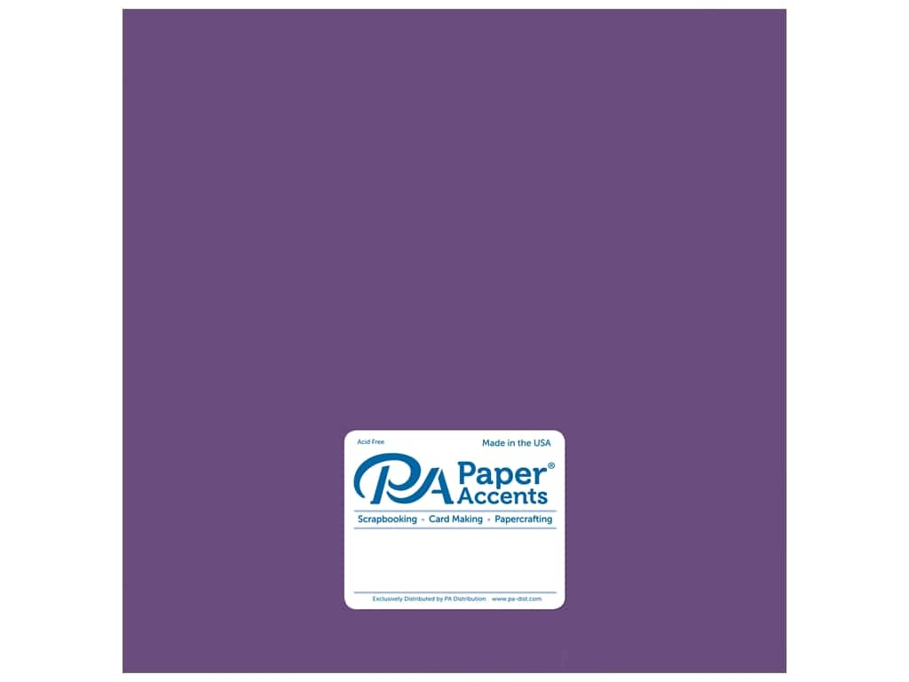Paper Accents Cardstock 12 x 12 in. Pearlized Blackberry Cordial 25 pc.