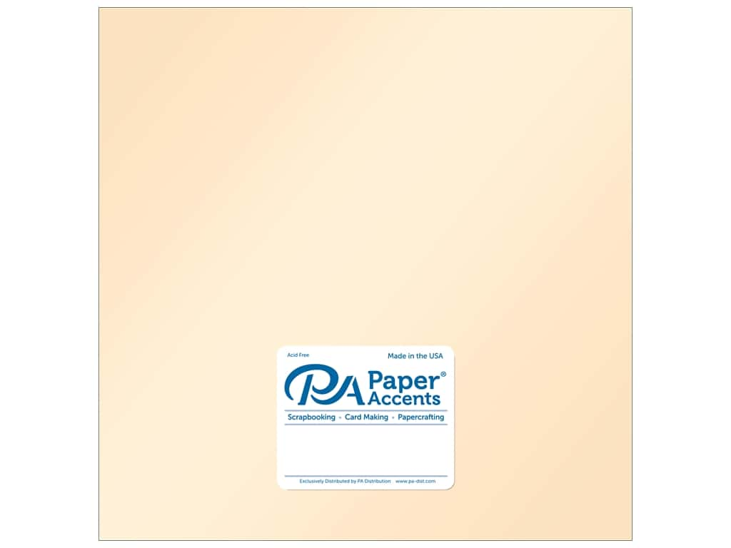 Paper Accents Cardstock 12 x 12 in. Pearlized Cameo 25 pc.