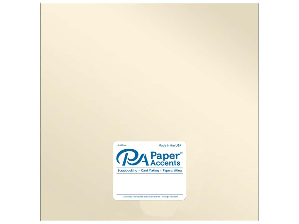 Paper Accents Cardstock 12 x 12 in. Pearlized Champagne 25 pc.