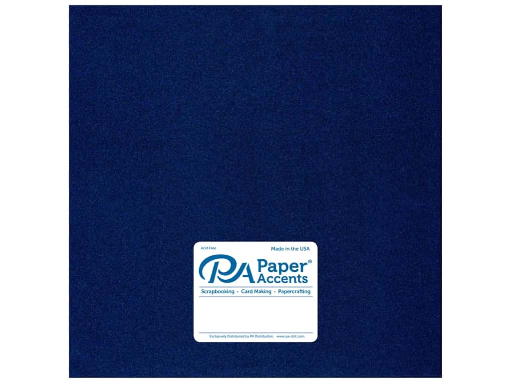Paper Accents Cardstock 12 x 12 in. Pearlized Lapis 25 pc.