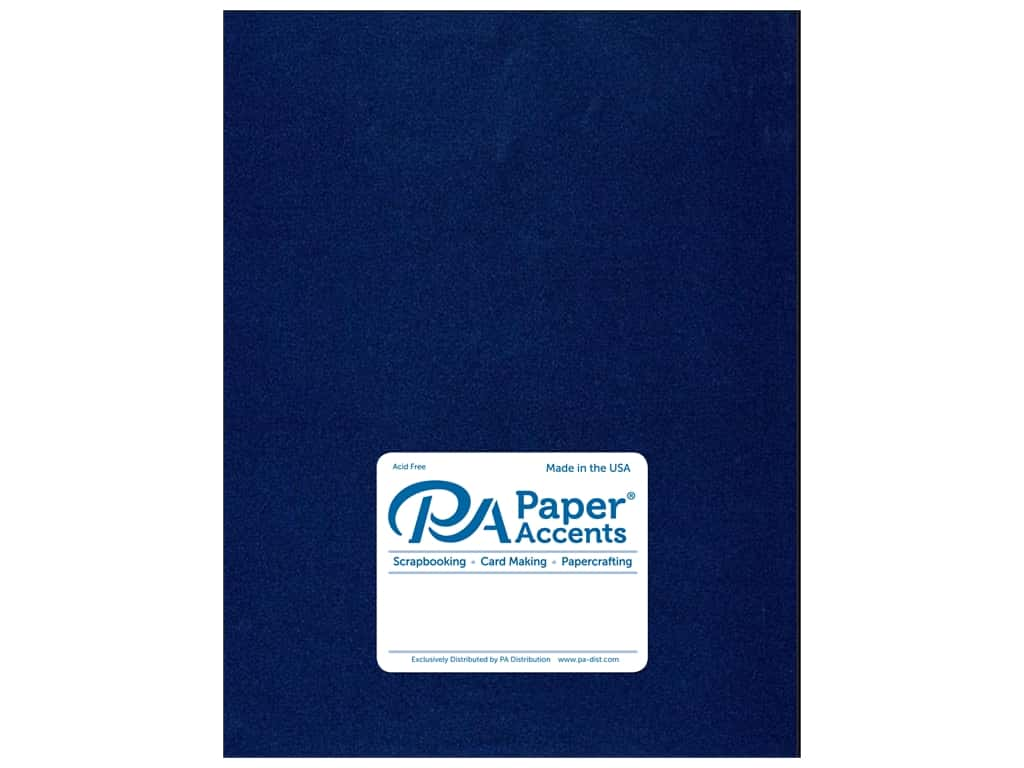 Paper Accents Cardstock 8 1/2 x 11 in. Pearlized Lapis 25 pc.