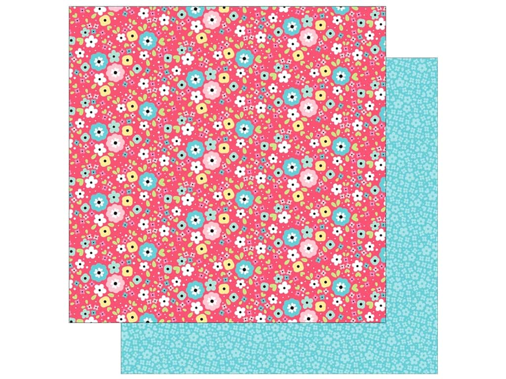 """Doodlebug So Punny Paper 12""""x 12"""" I'm Daisy For You (25 pieces)"""