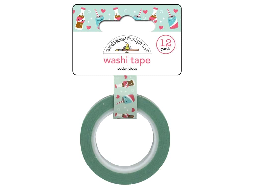 Doodlebug So Punny Washi Tape Soda-licious