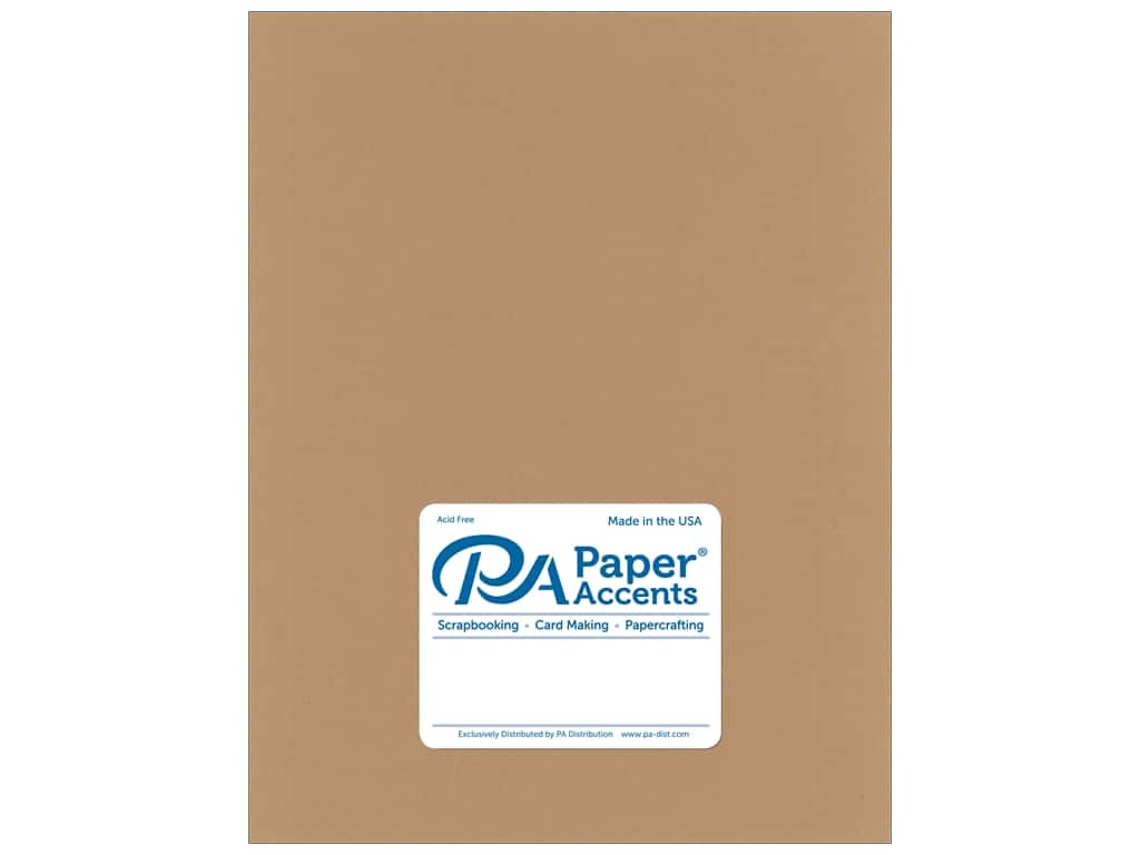 Paper Accents Cardstock 8 1/2 x 11 in. Muslin Toffee 25 pc.