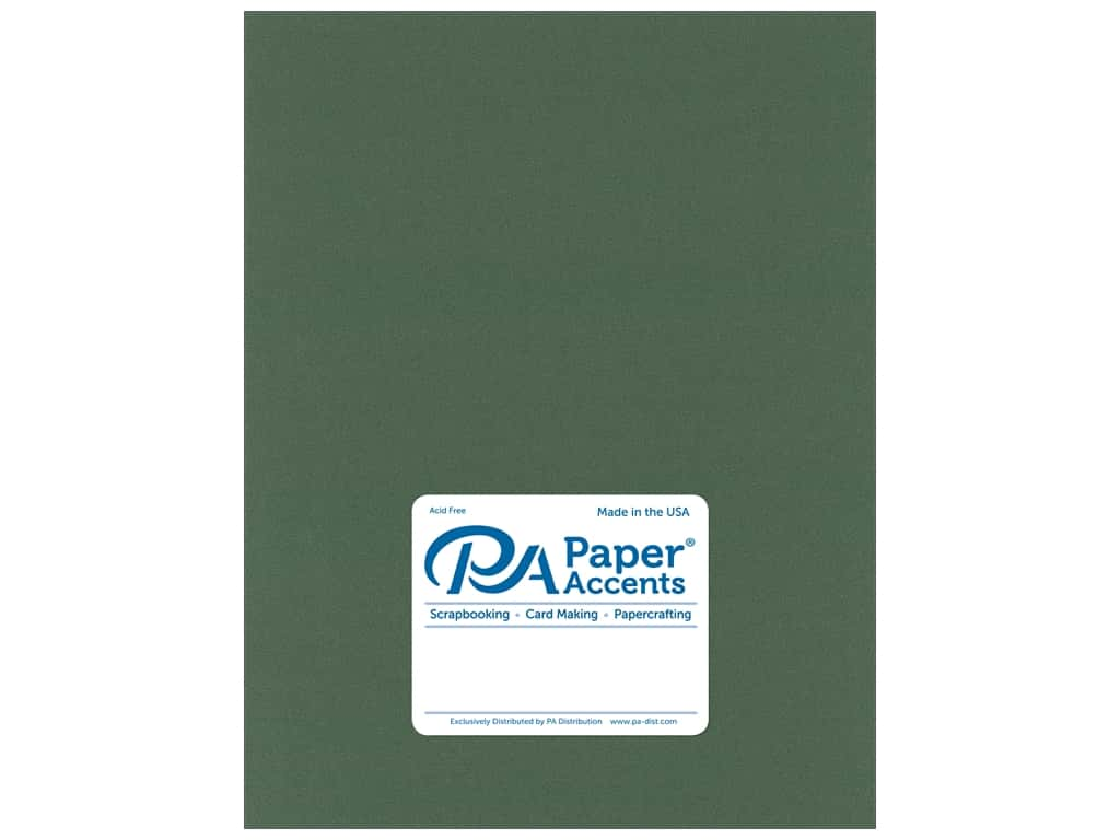 Paper Accents Cardstock 8 1/2 x 11 in. Pearlized Moss 25 pc.