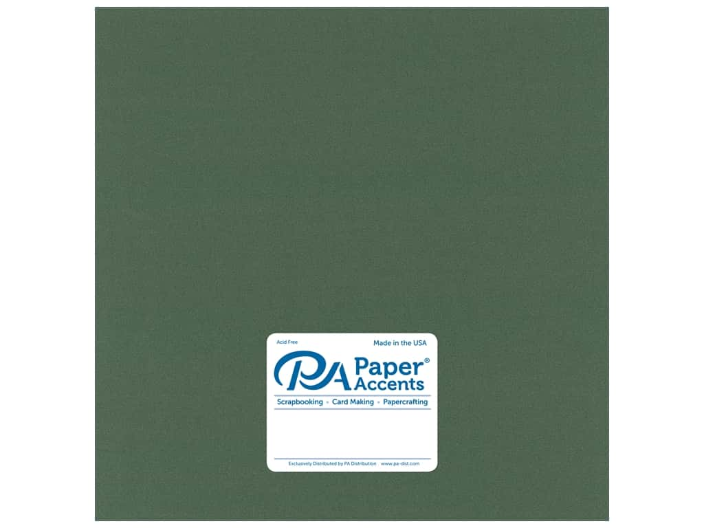 Paper Accents Cardstock 12 x 12 in. Pearlized Moss 25 pc.