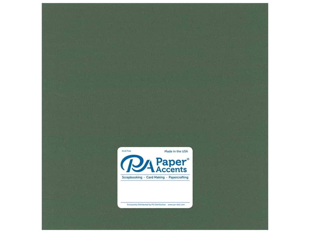 Paper Accents Pearlized Paper 12 x 12 in. Moss 25 pc.