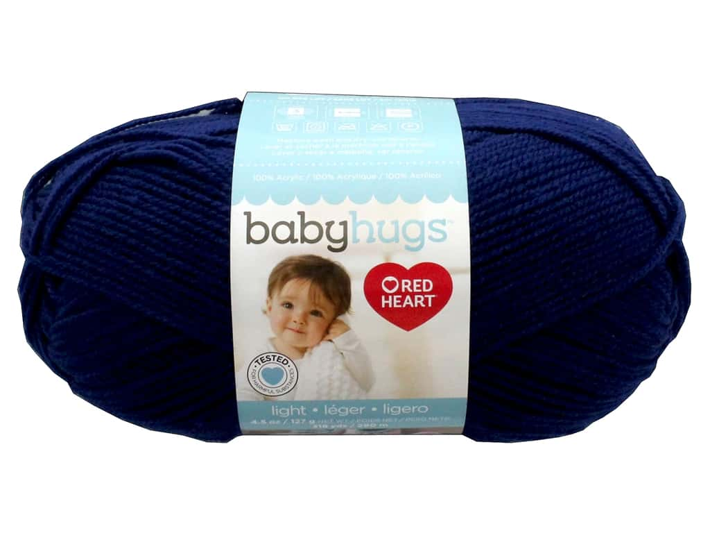 Red Heart Baby Hugs Light Yarn 247 yd. #3801 Blueberry