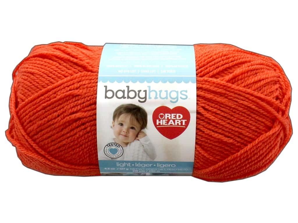 Red Heart Baby Hugs Light Yarn 247 yd. #3255 Orangie