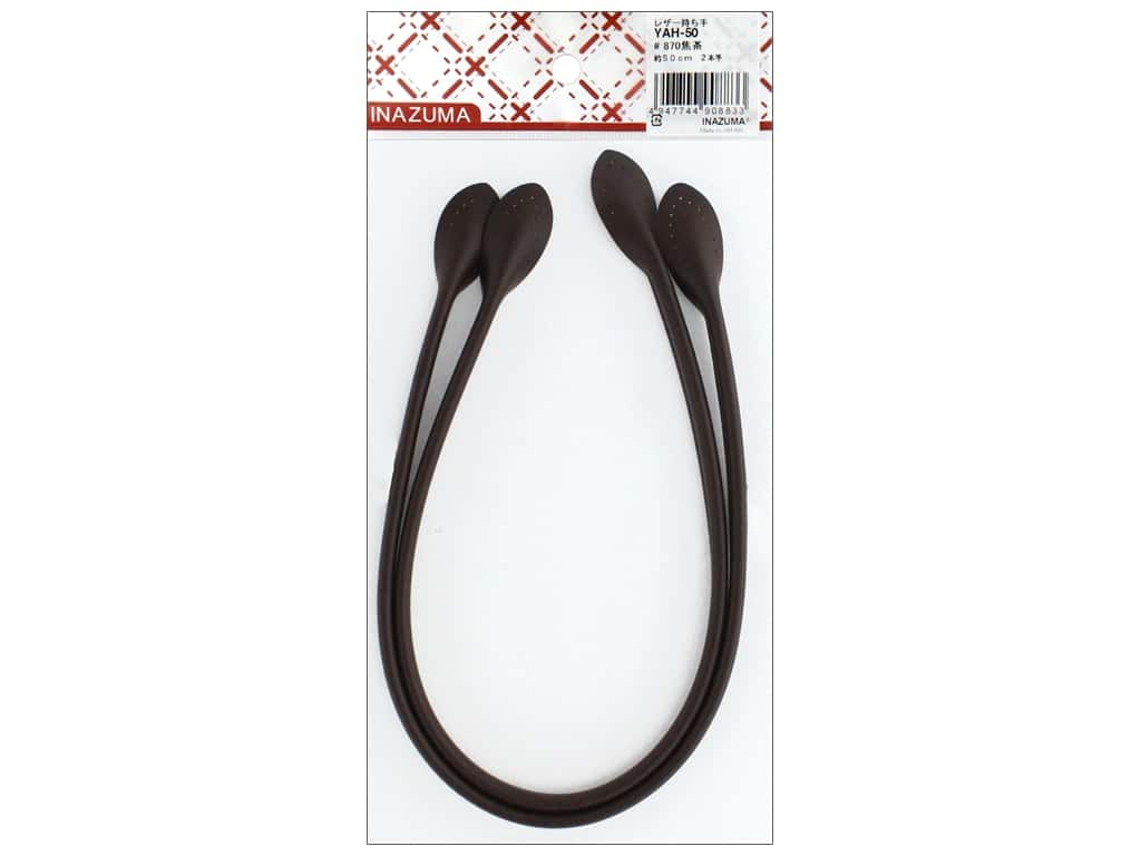 Inazuma Handles Leather Like Hand Sew 20 in. Dark Brown