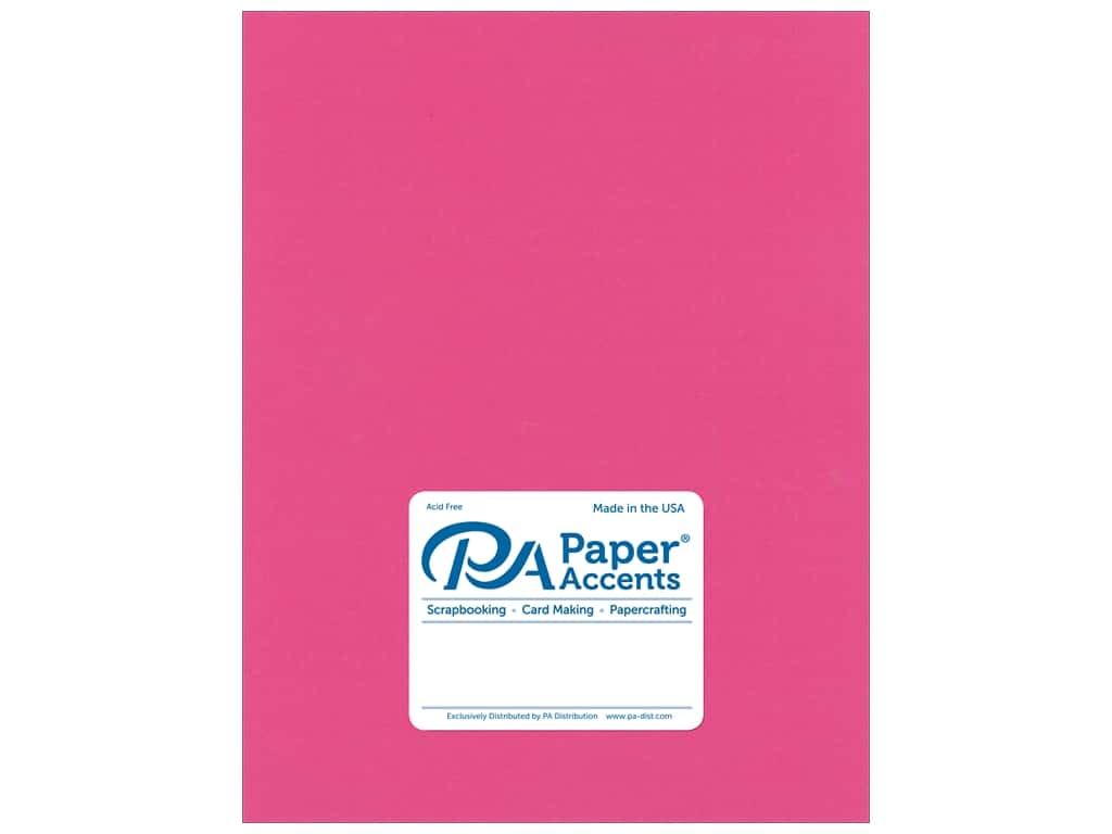 Paper Accents Cardstock 8 1/2 x 11 in. Stash Builder Hot Pink 25 pc.