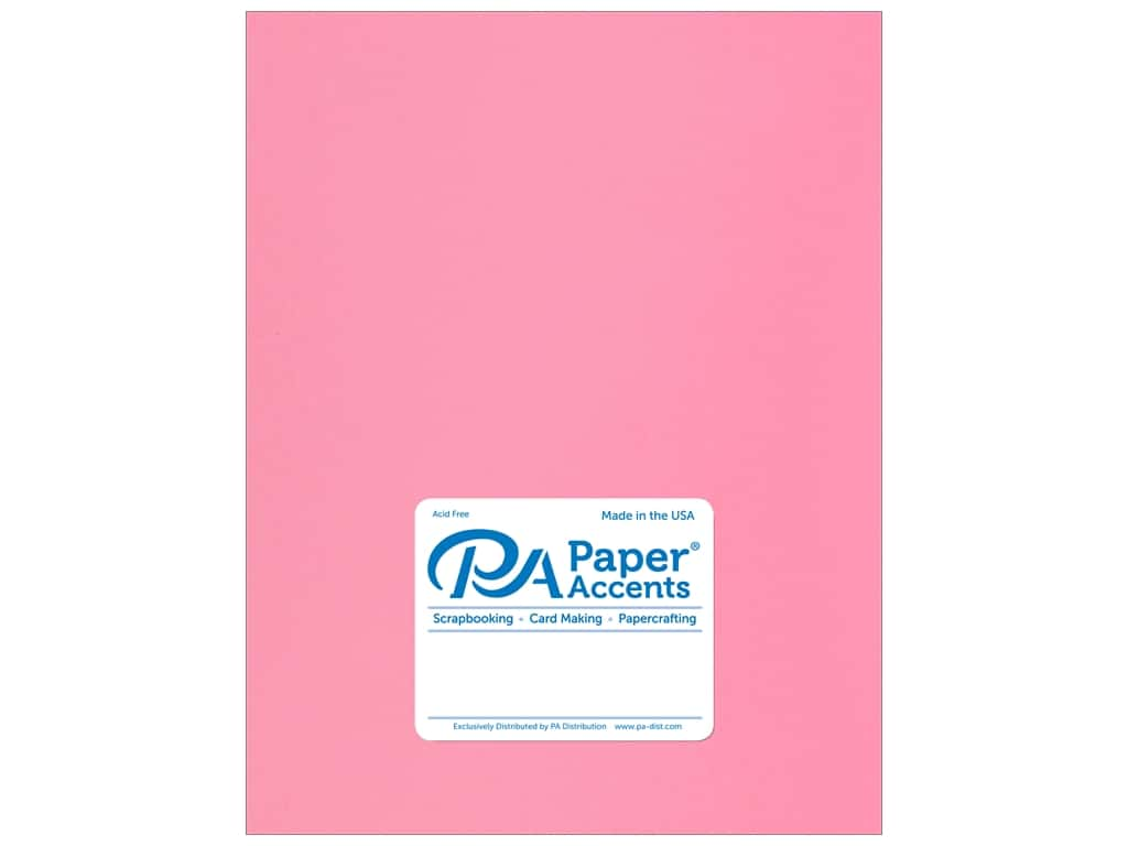 Paper Accents Cardstock 8 1/2 x 11 in. Stash Builder Hot Rose 25 pc.