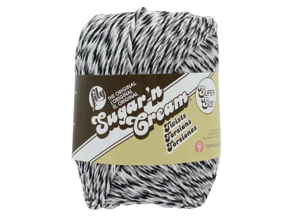 Sugar'n Cream Super Size Twists Yarn 150 yd. Overcast