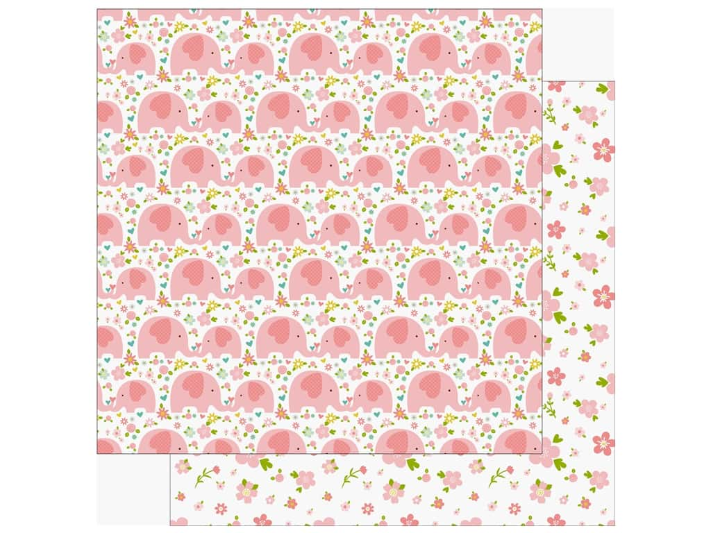 Echo Park Sweet Baby Girl Paper  12 in. x 12 in. Love You (25 pieces)