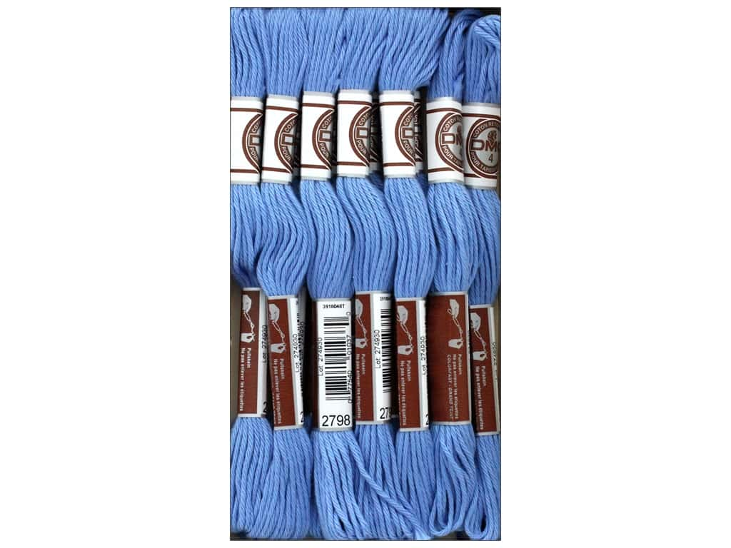 DMC Soft Matte Cotton Embroidery Thread 10.9 yd. Medium Cornflower Blue (12 skeins)