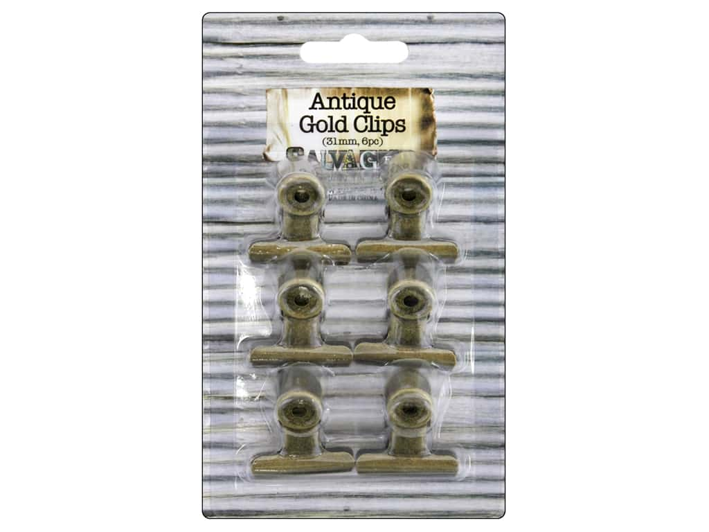 BCI Crafts Bull Clips 31mm Gold 6pc