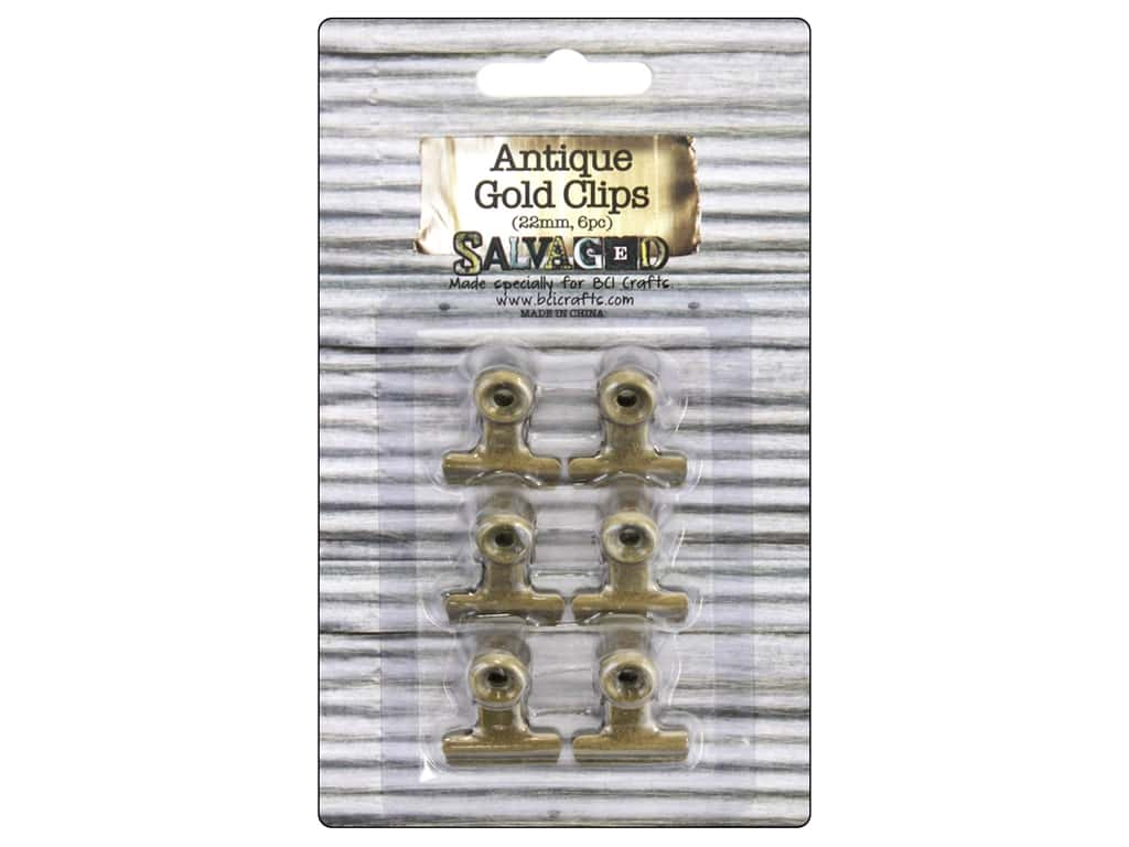 BCI Crafts Bull Clips 22 mm Gold 6 pc