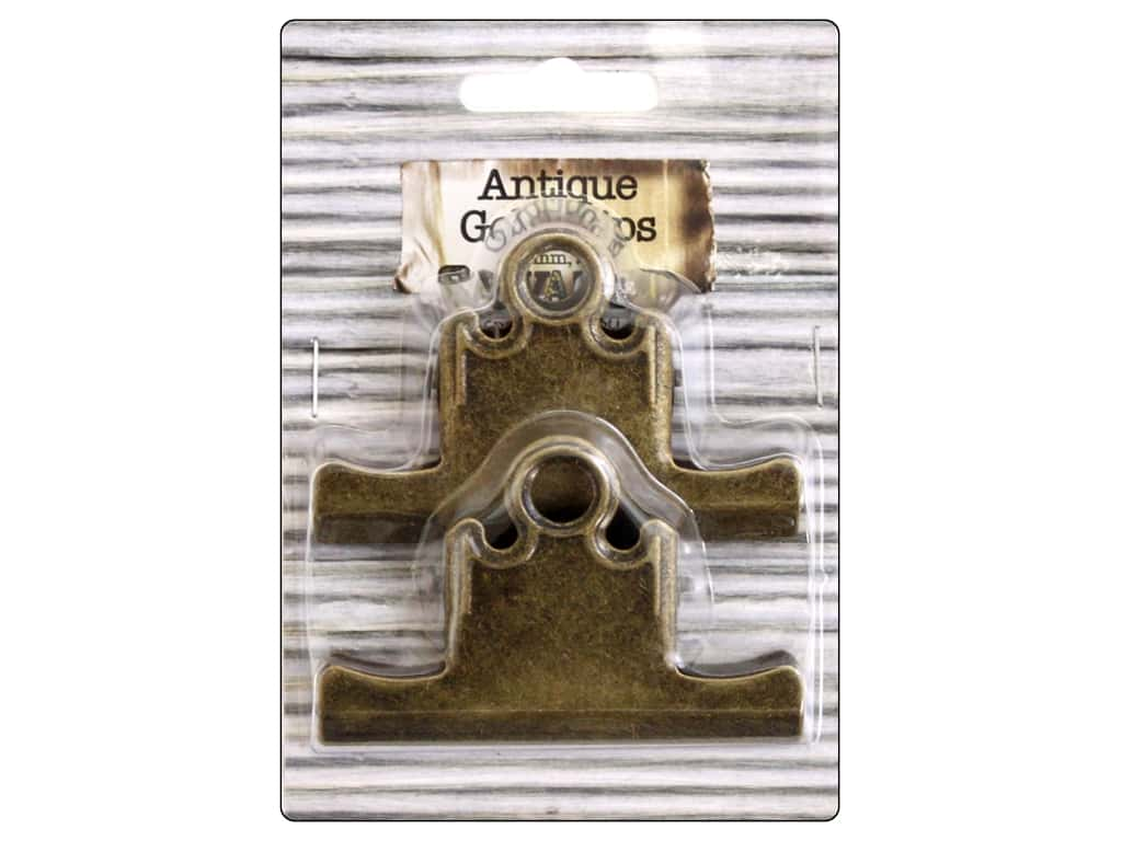 BCI Crafts Bull Clips 75 mm Gold 2 pc