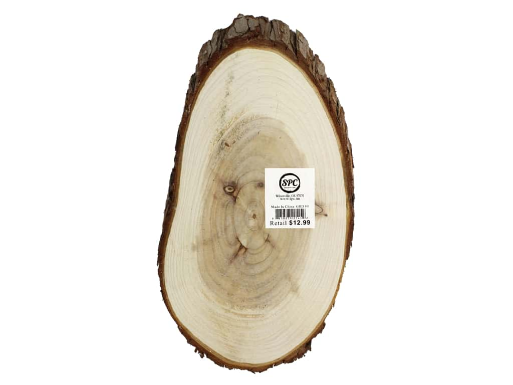 Sierra Pacific Crafts Wood Slices Oval 12.5 in. Natural