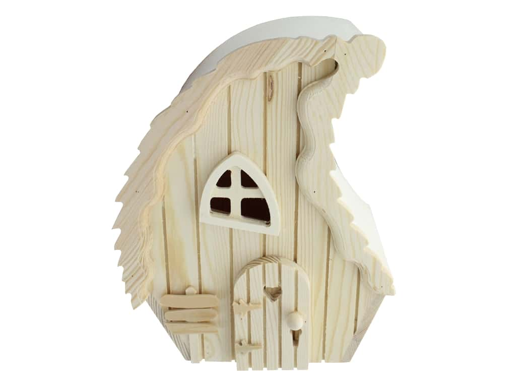 Sierra Pacific Crafts Wood Birdhouse Slat Board Front Unfinished
