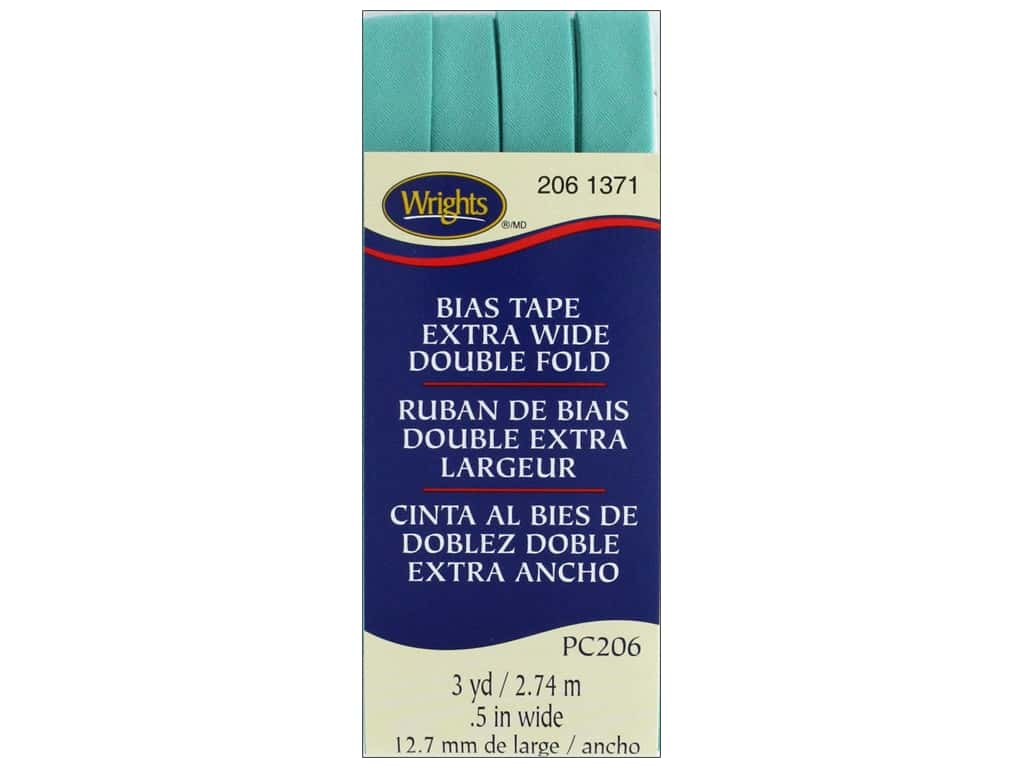 Wrights Extra Wide Double Fold Bias Tape - Aquamarine 2 3 yd.