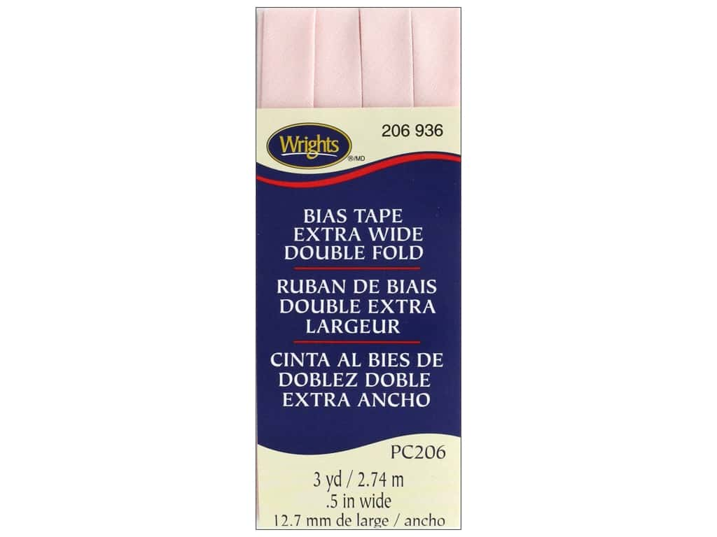 Wrights Extra Wide Double Fold Bias Tape - Rosewater 3 yd.