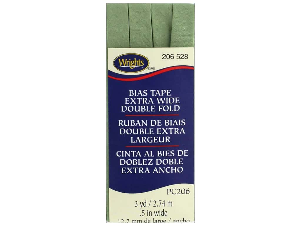Wrights Extra Wide Double Fold Bias Tape 3 yd. Sage