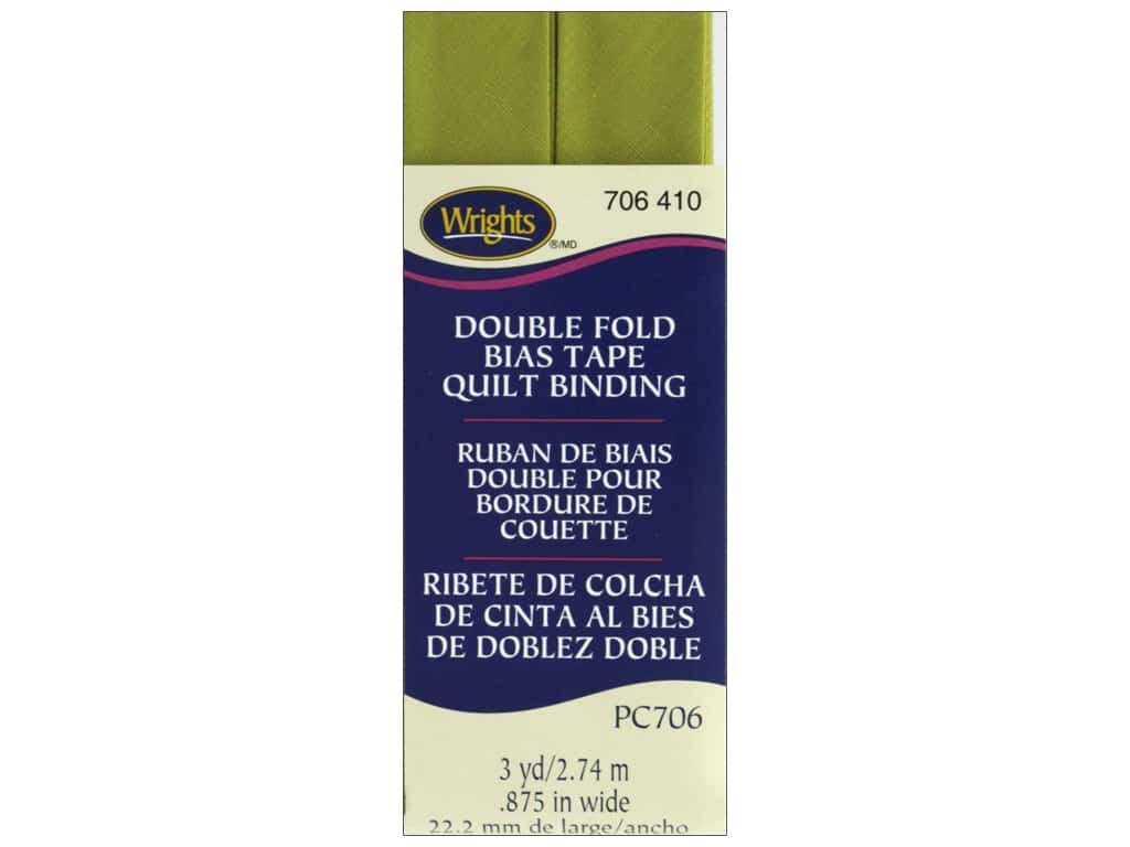 Wrights Double Fold Quilt Binding 3 yd. Dill Pickle
