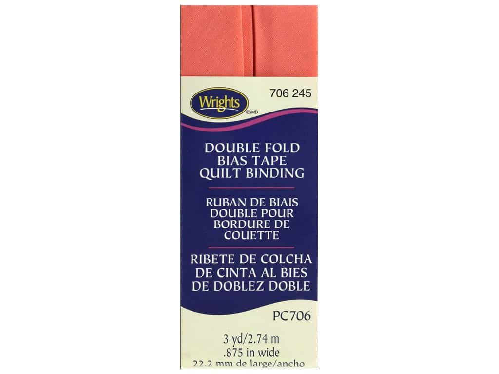 Wrights Double Fold Quilt Binding - Coral Sea 3 yd.