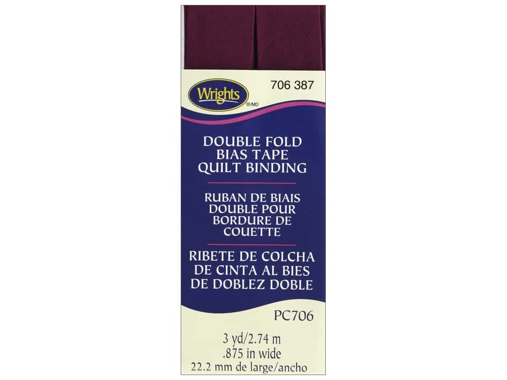 Wrights Double Fold Quilt Binding 3 yd. Geranium