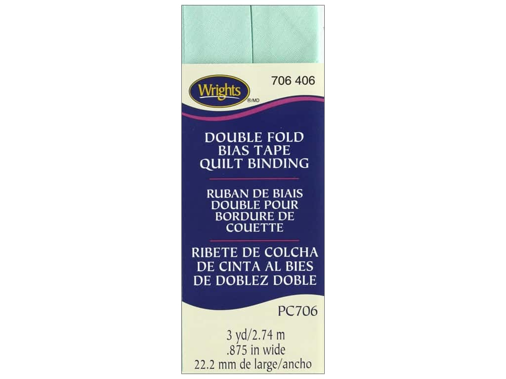 Wrights Double Fold Quilt Binding - Cool Cucumber 3 yd.