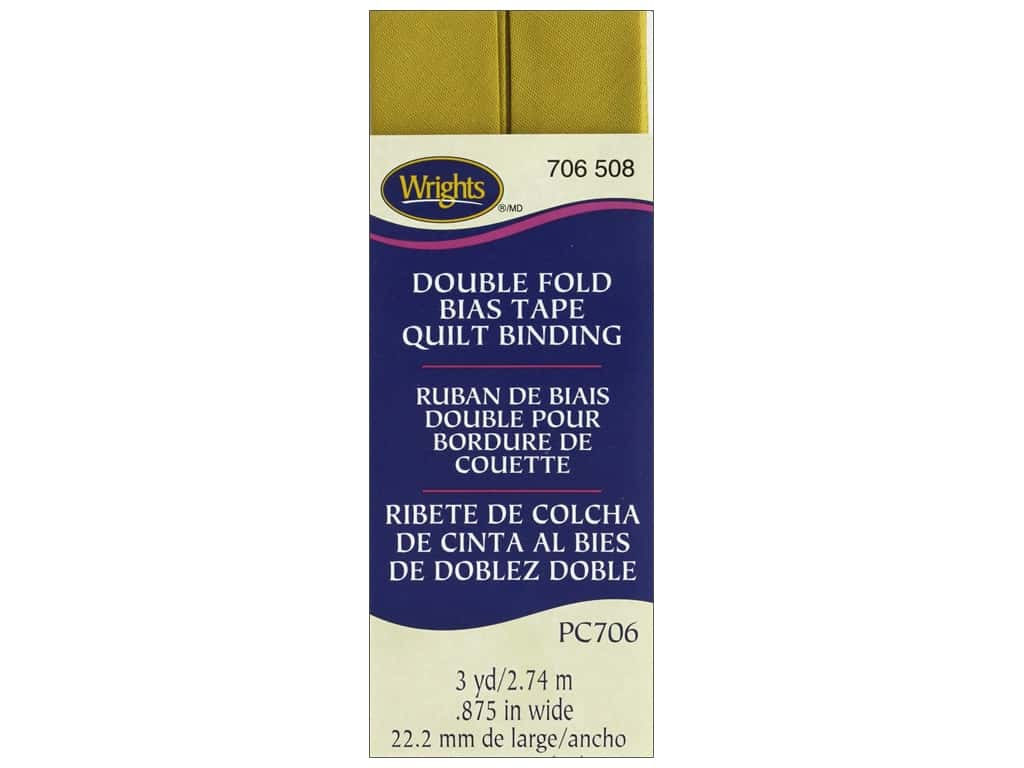 Wrights Double Fold Quilt Binding - Mustard 3 yd.