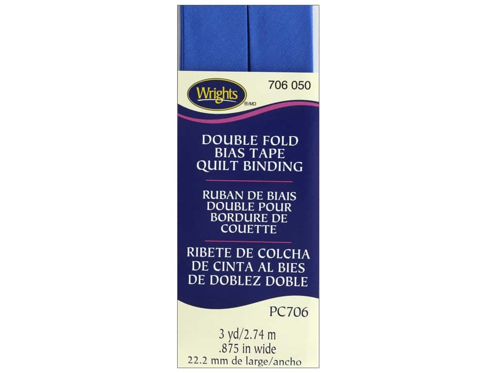 Wrights Double Fold Quilt Binding 3 yd. Royal