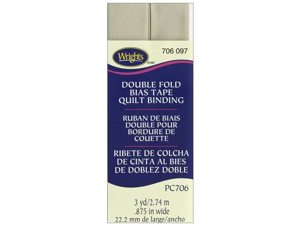 Wrights Double Fold Quilt Binding 3 yd. Khaki