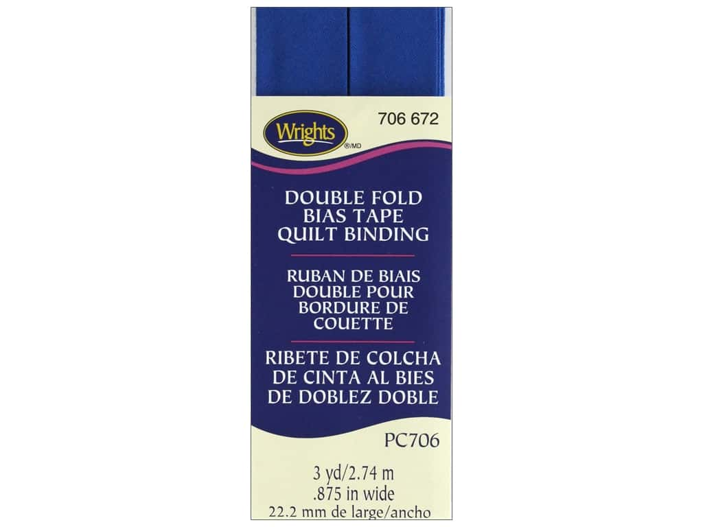 Wrights Double Fold Quilt Binding - Snorkel Blue 3 yd.