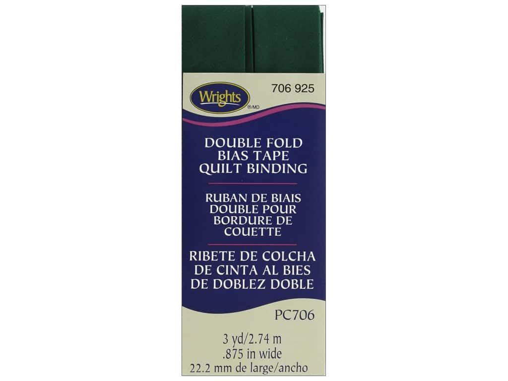 Wrights Double Fold Quilt Binding 3 yd. Hunter