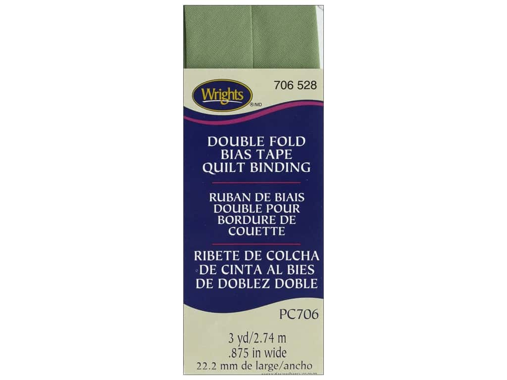 Wrights Double Fold Quilt Binding 3 yd. Sage