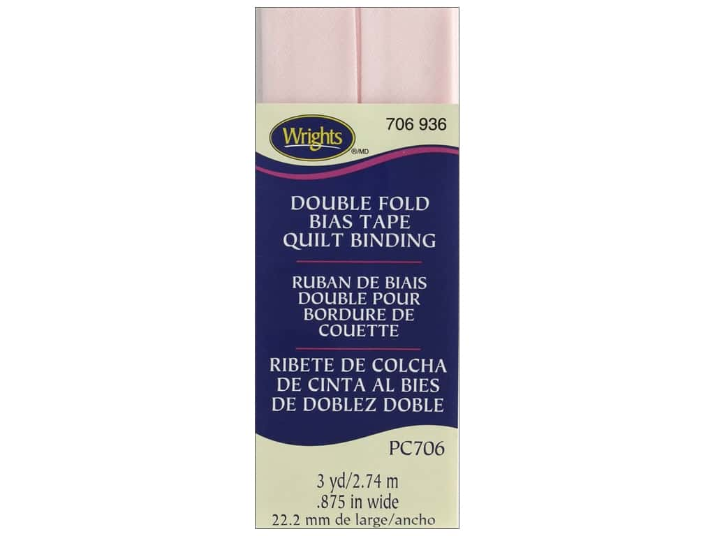 Wrights Double Fold Quilt Binding 3 yd. Rosewater