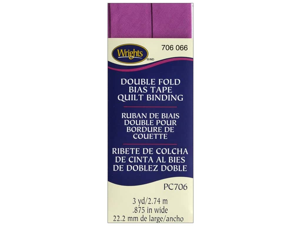 Wrights Double Fold Quilt Binding - Radiant Orchid 3 yd.
