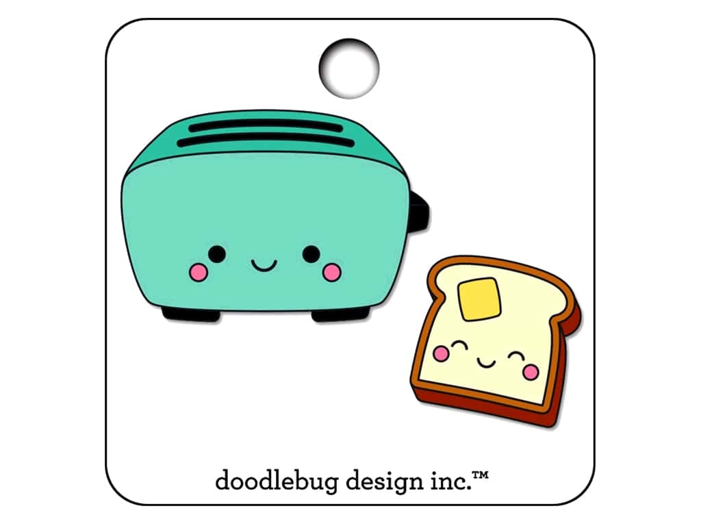 Doodlebug So Punny Collectible Pin Toaster Time