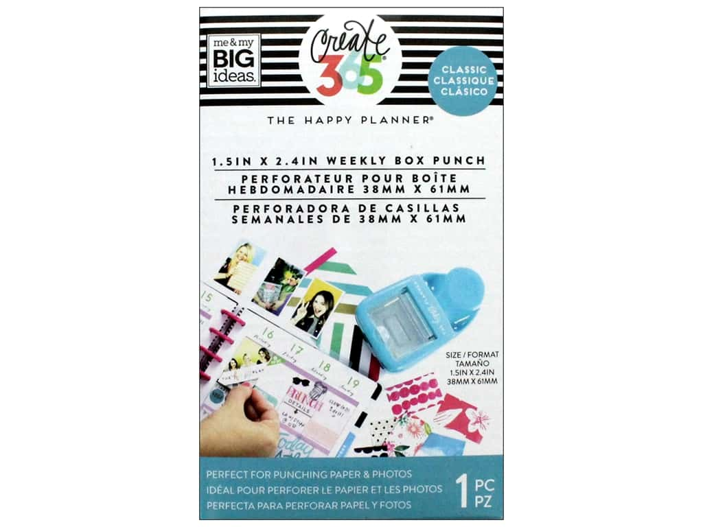 Me&My Big Ideas Collection Create 365 Happy Planner Punch Weekly Classic